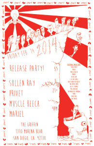 Villaintines Day release party poster - february 14th