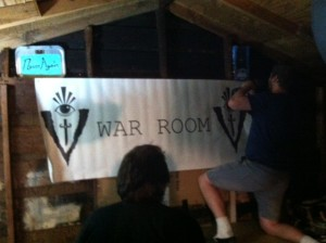 Villains Record war room banner